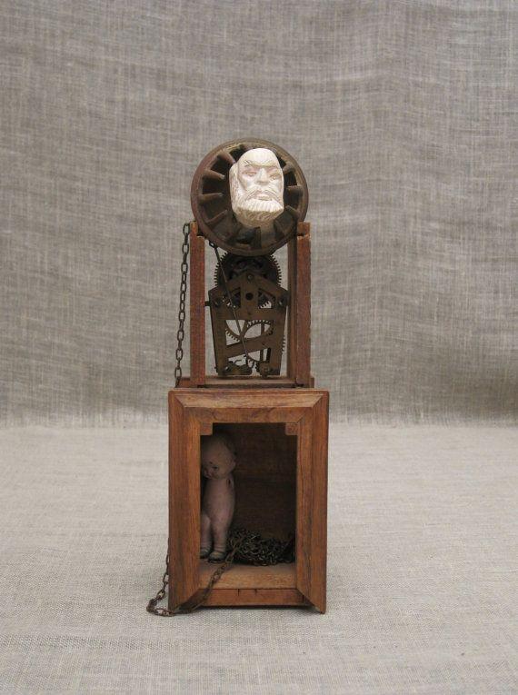 Male Portrait , Assemblage , Art , Sculpture , Wil Shepherd , Assemblage Sculpture , Folk Art , Wood Sculpture , Wil Shepherd Studio