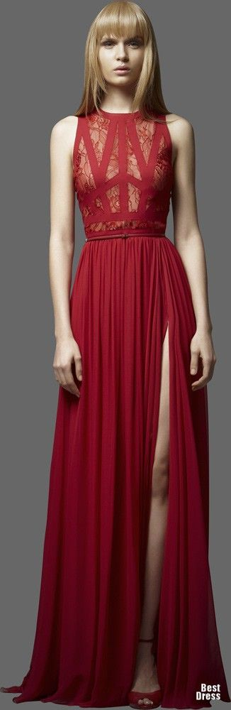 red elie saab gown. Lov the formal pleats and the art of the. Spider web. .. she has me captivated.... ♡★♡