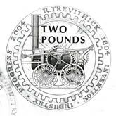 Coin #design sketch for 200th Anniversary of the first steam locomotive by Richard Trevithick - by Robert Lowe  http://www.royalmint.com/discover/uk-coins/coin-design-and-specifications/two-pound-coin/2004-steam-locomotive-anniversary