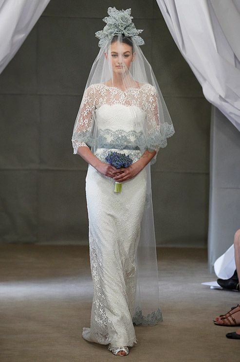 Don't mind the headpiece.  Carolina Herrera, Spring 2013