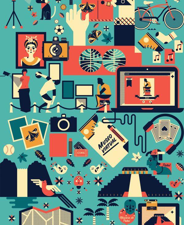 Poster Innovación Lectora Secundaria by Cherry Bomb Design Studio, via Behance