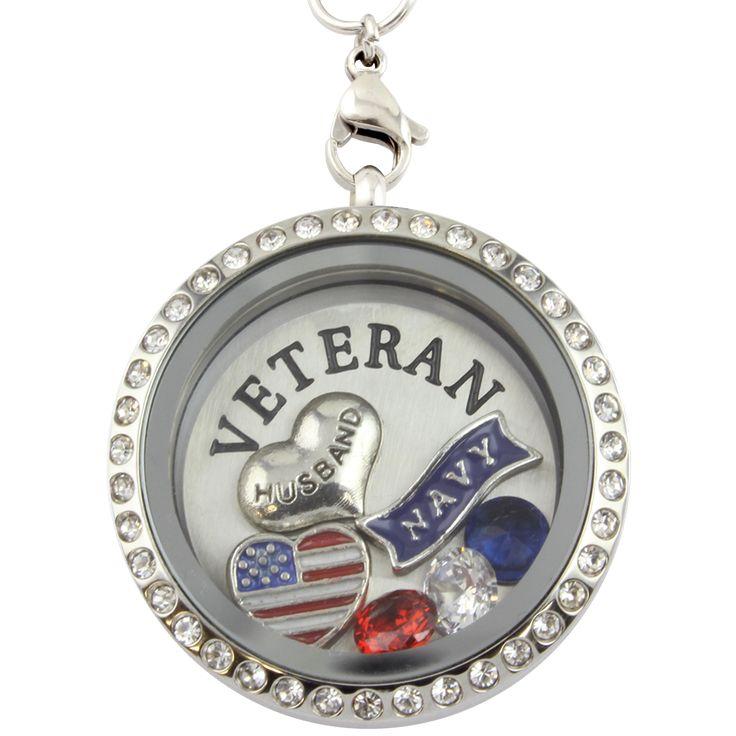 Proud Wife- Navy Veteran Husband Necklace