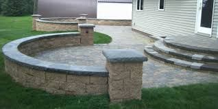 Image result for Front patio with retaining wall designs