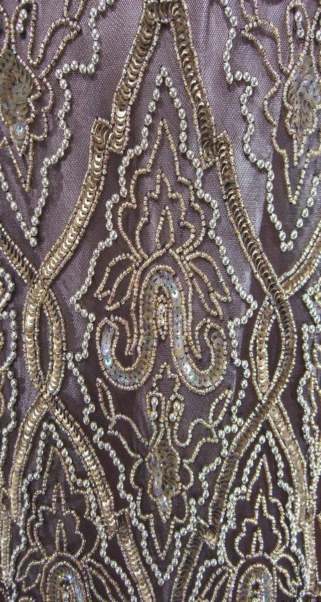 The Flame Black Gold : Beaded 1920s Style Gowns, Art Deco Gowns, 20s Flapper Fringe Dresses, Vintage Daywear, Hollywood Reproductions..... from LeLuxe Clothing