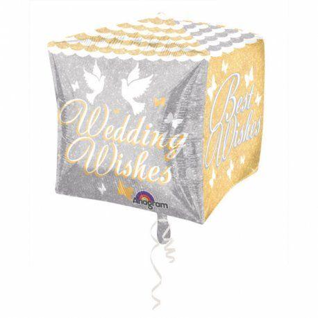 """Piątek, piąteczek, piątunio:) Uwielbiamy:)    Foliowe balony, ślubne życzenia, 38x38 cm w kształcie sześcianu z czterostronnym nadrukiem - z helem lub bez.    Z dwóch stron z napisem """"Best Wishes"""", a z dwóch kolejnych """"Wedding Wishes"""".    Wesele to wyjątkowe miejsce na balony :)    Miłego Weekendu:)    http://www.niczchin.pl/balony-urodzinowe/4207-balon-foliowy-38x38-cm-slubne-zyczenia.html    #ślubneżyczenia #bestwishes #weddingwishes #balony #niczchin #kraków"""