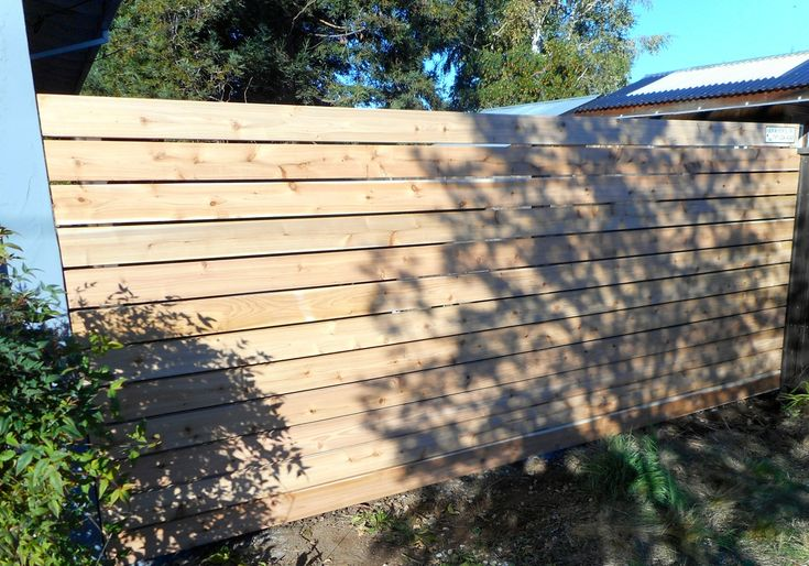 Horizontal Fence With 2x6 Boards Horizontal Fencing