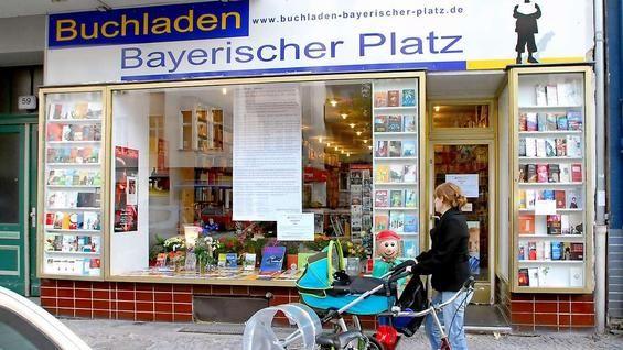 Buchladen Bayerischer Platz im Bayerischen Viertel in Berlin-Schöneberg.