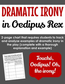 "dramatic irony in oedipus rex essay Oedipus rex irony examples from but we do rate you first of men"" dramatic irony this is dramatic irony because the audience of the oedipus rex essay."