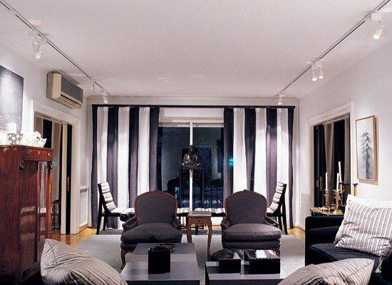 Resultado de imagen de cortinas blanco y negro