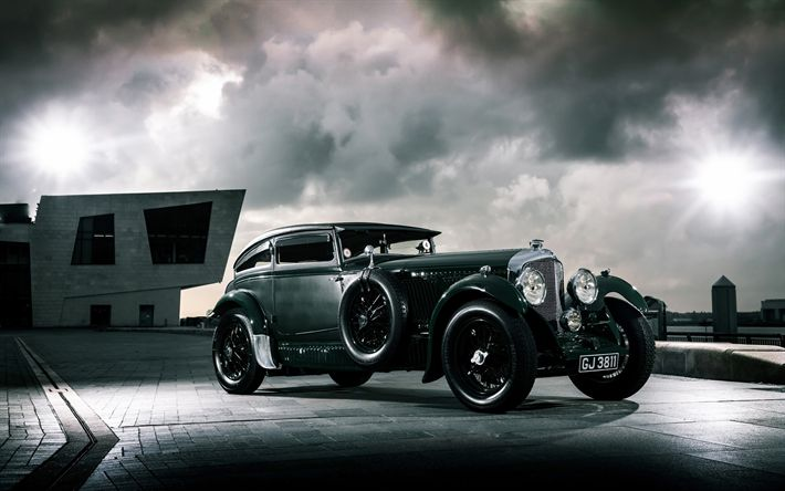 Download wallpapers Bentley Speed Six Blue Train Special, 1930 cars, retro cars, Gurney Nutting, Bentley