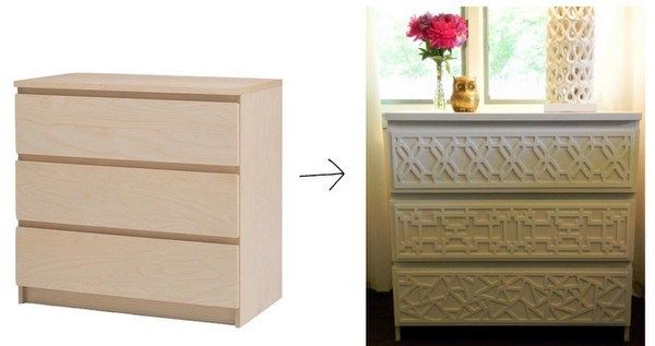 Holy Ikea Hack. Inexpensive dresser, inexpensive overlay @ myoverlays.com and a shade of your favorite paint in a satin or semi-gloss finish. If only I needed any furniture right now!!!