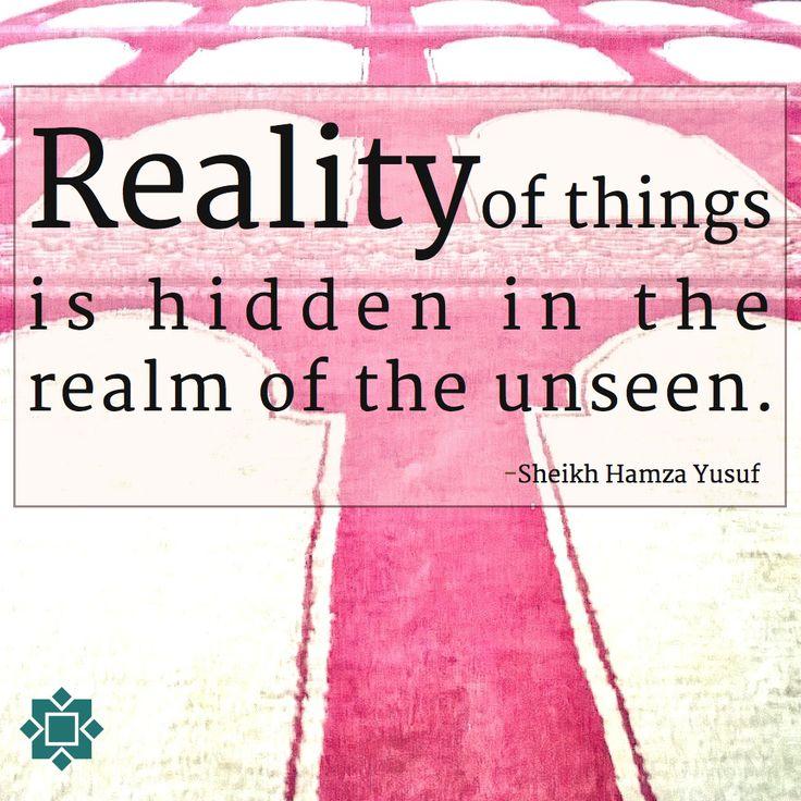 Hidden reality.