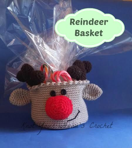 Knot Your Nana's Crochet: Reindeer Basket (Crochet for Christmas: 29 Patterns for Handmade Holiday Decorations and Gifts)