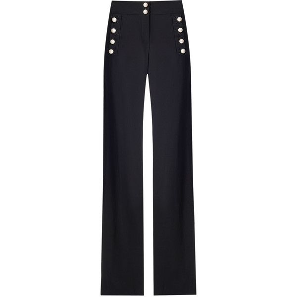 Adley Pants ($395) ❤ liked on Polyvore featuring pants, blue pants and blue trousers