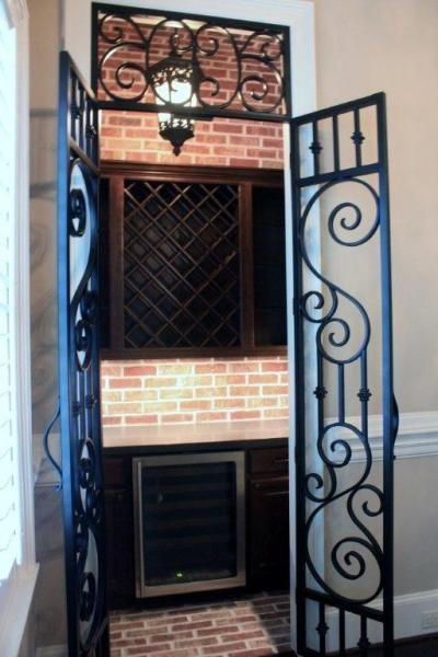 New Orleans Style Wrought Iron Doors Kitchen Remodeling