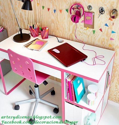 ESCRITORIOS JUVENILES by artesydisenos.blogspot.com