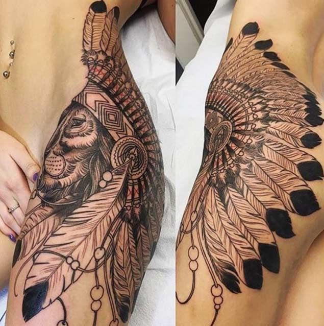 Thigh Side Tattoos: 37 Best Lion Hip Tattoos Images On Pinterest