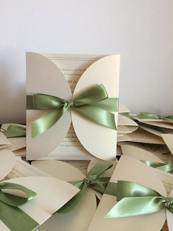 Handmade wedding invitations/ Elegant wedding by handmadebymaddy