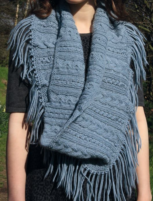 Free Knitting Pattern for Lace Cable Cowl - #ad Designed by Sara Thornett for...