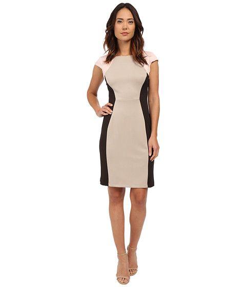 Christin Michaels Courtney Scuba Dress