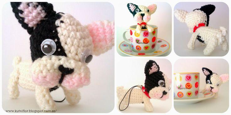 Hola! estas semanas he estado mas productiva y por eso os muestro otra de mis criaturitas de lanita, un bulldog francés de amigurumi y siiii...