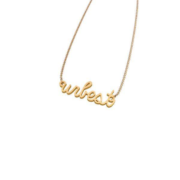 URBEST you are best necklace 3D printed Zazzy custom jewelry