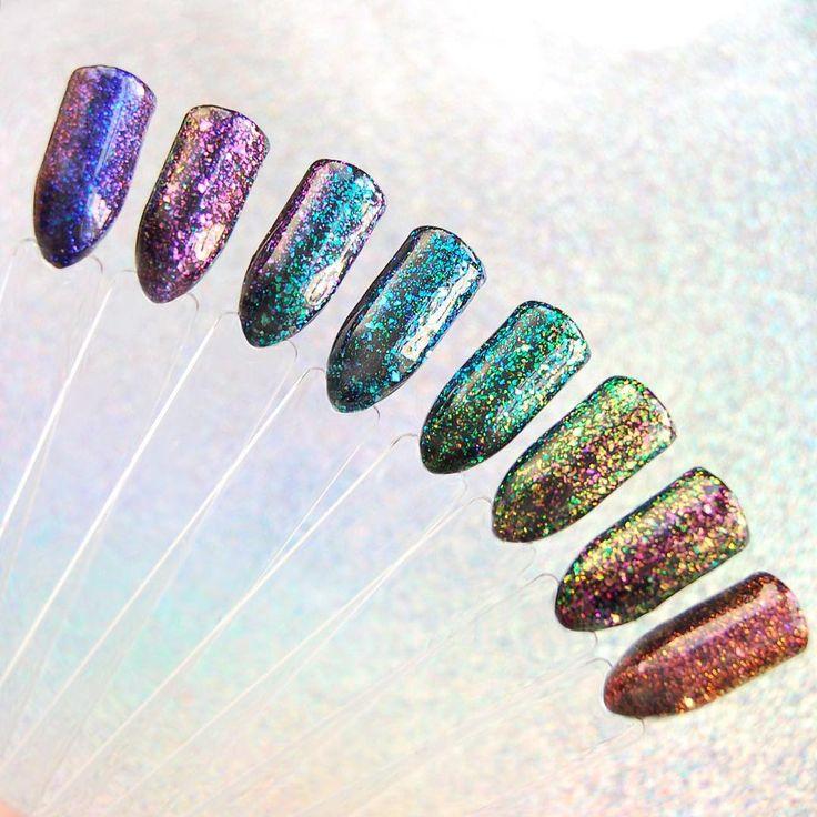 Błyszczące paznokcie hybrydowe / Star Glow / NeoNail
