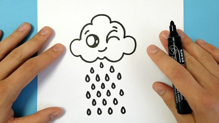 HOW TO DRAW A CARTOON CLOUD EASY - YouTube