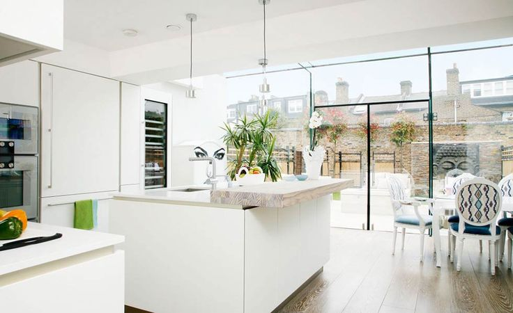 Image result for kitchen house extension glass
