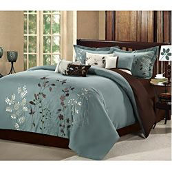 Bliss Garden Sage 12-piece Bed in a Bag with Sheet Set | Overstock.com Shopping - The Best Deals on Bed-in-a-Bag