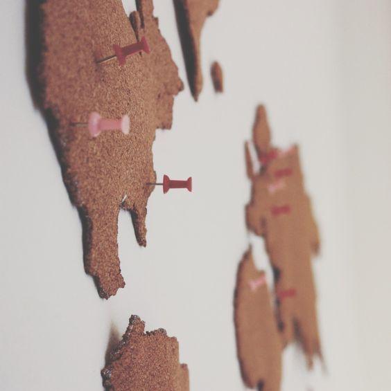 Make your own cork board map!