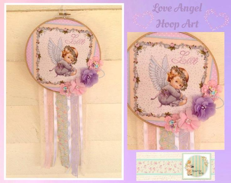 Handmade by Lisa @ Beautiful Belle  Love Angel Hoop Art
