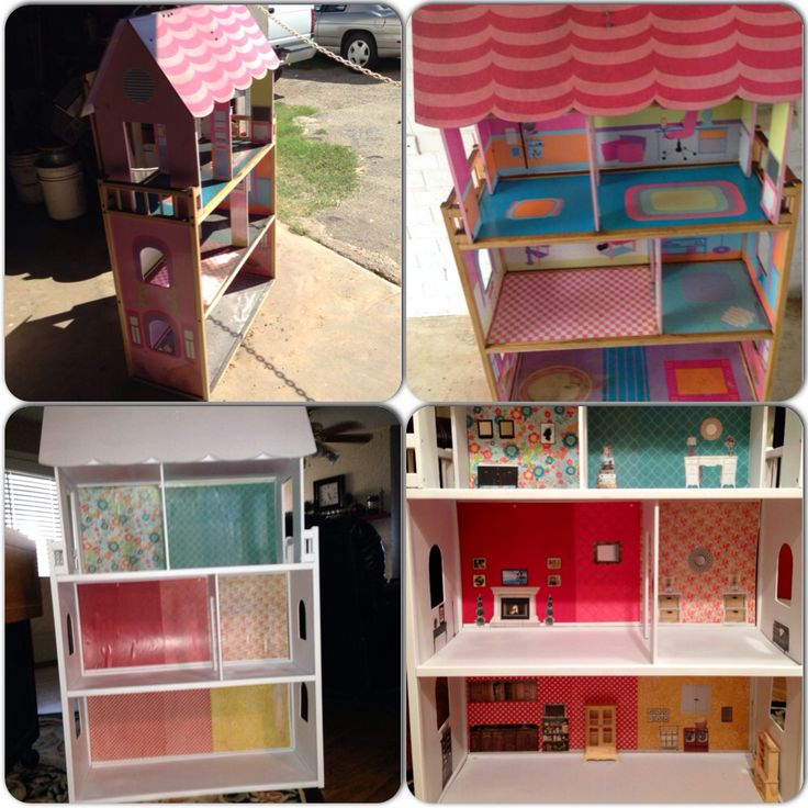 Superior Doll Furniture For Sale Part - 6: DIY Garage Sale Kidkraft Wooden Dollhouse Makeover Dollhouse Furniture  Printables Gone With The Wind. Kitchen