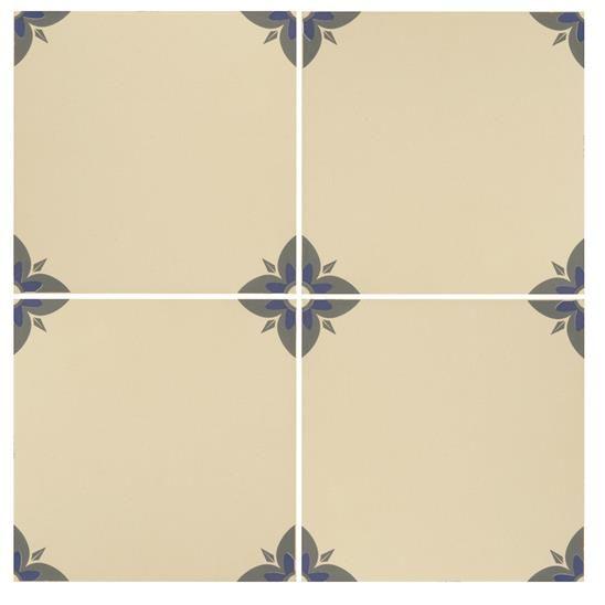 Empire Denim and Blue on White Ceramic Tile