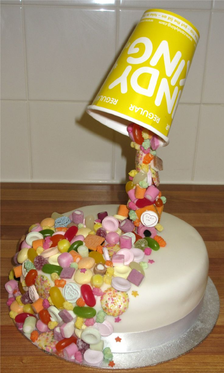 Anti Gravity Pick n Mix Cake