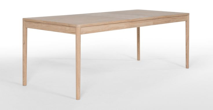 Hedra Extending Dining Table, Pale Ash | made.com