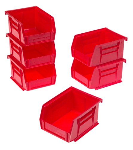 Akro Mils  Drawer Hardware Craft Cabinets  Pack Red And Black