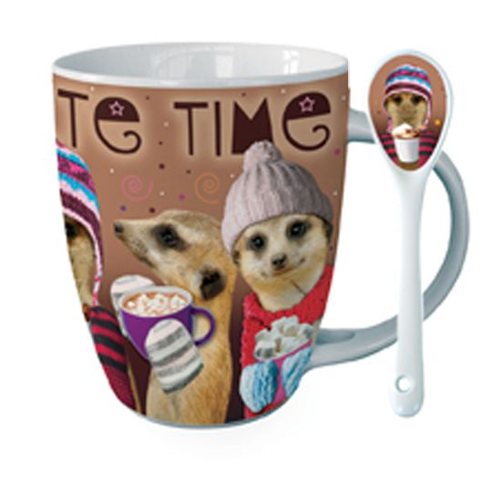 Meerkats Hot Chocolate Mug