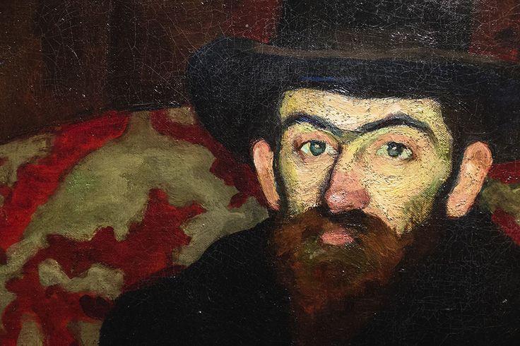 Perlrott Csaba Vilmos: Ziffer Sándor arcképe, részlet, 1908, olaj ,vászon, 100,5 x 81 cm