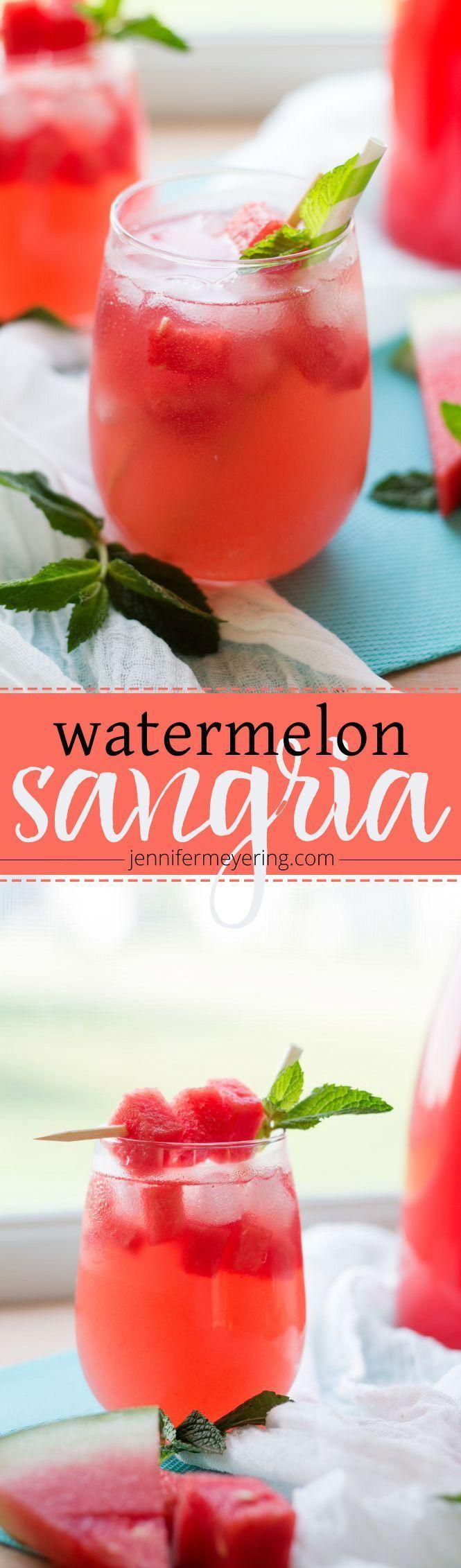 Watermelon Sangria | JenniferMeyering.com
