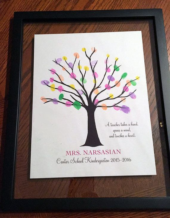 9 best teacher appreciation fingerprint trees images on for Friendship tree template