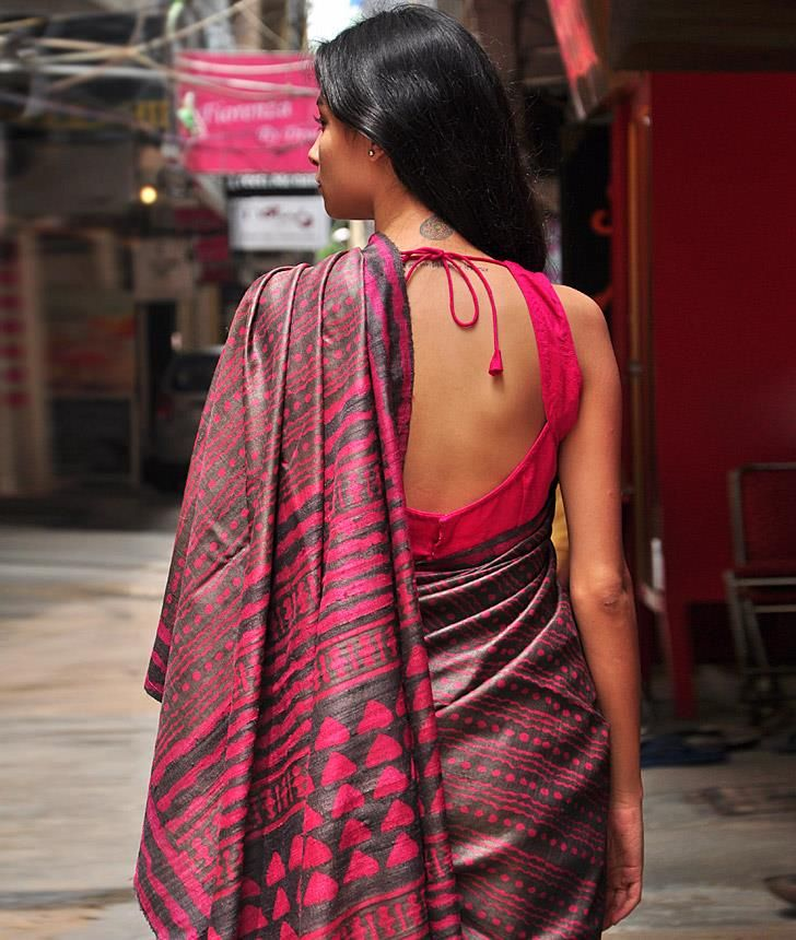 Dabu printed silk.....