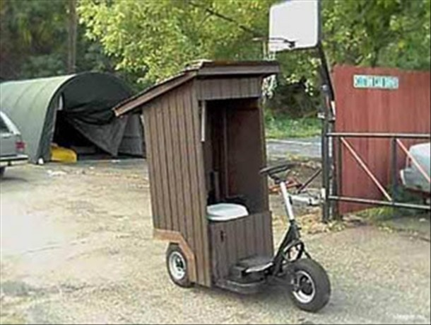 Portable Toilet, If your always on the go, if you get my drift, its perfect!!Porta Potty, Laugh, Funny Pictures, Toilets, Golf Club, Portapotty, Outhouse, Redneck, Roads Trips