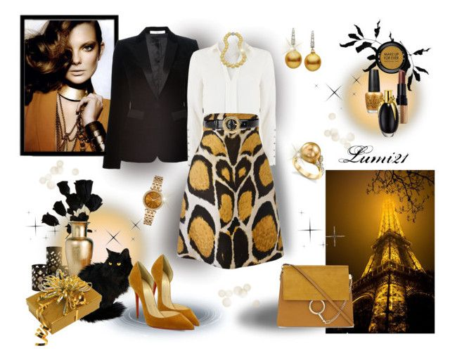 stylish by lumi-21 on Polyvore featuring Mint Velvet, Givenchy, Giles, Christian Louboutin, Chloé, Michael Kors, Bling Jewelry, Love Moschino, MAKE UP FOR EVER and Bobbi Brown Cosmetics