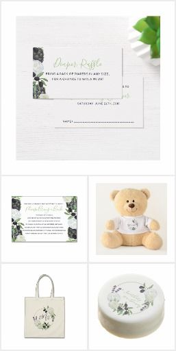 Rustic Floral Wreaths with Romantic Artichoke & Olives, tuscan vineyard baby shower collection. #babyshower #invitations #diaperraffle #bookcards #teddybears #customize #diy #print #soeasy #zazzle