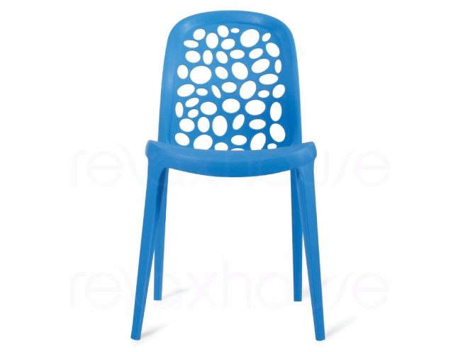 Retro Outdoor Cafe Chair Blue