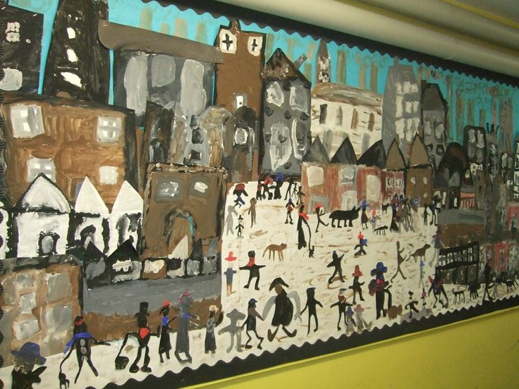 Classroom Display Ideas Victorians : The best images about ls lowry on pinterest pastel
