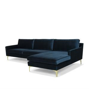 Hugo velvet Corner Sofa in Petrol Blue #worthynzhomeware wwworthy.co.nz