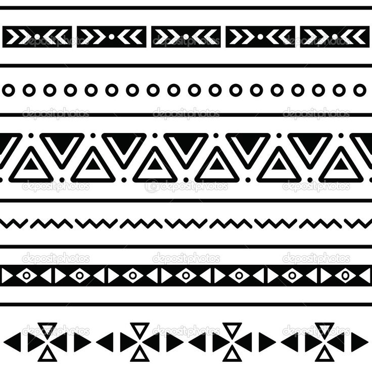 Tribal Patterns Black And White Aztec pattern black and white