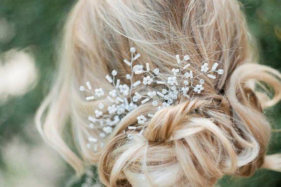 Украшение шпилька в прическу свадебная вечерняя заколка для невесты шпильки 2 штуки